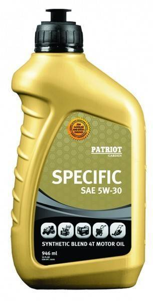 масло patriot specific high-tech 5w30 sj/cf 0,946 л.