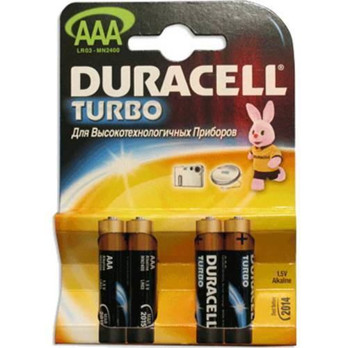 элемент питания duracell turbo max mn1500/lr6 bl4 аа