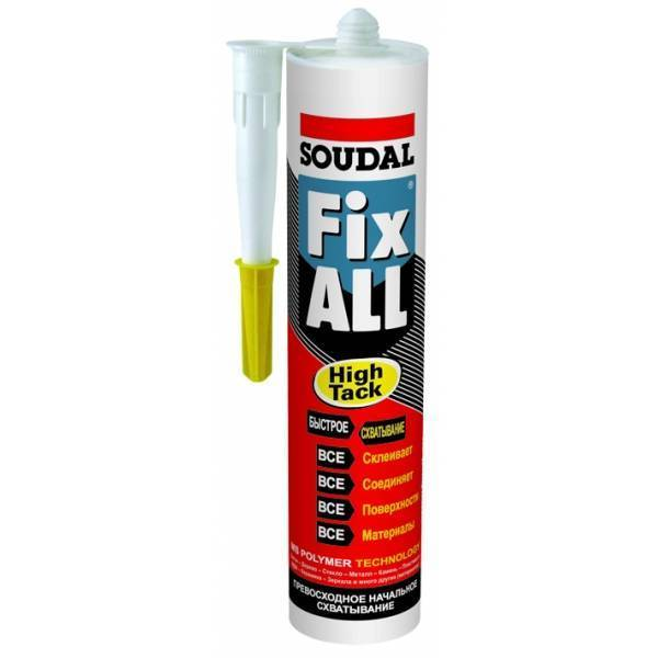 герметик soudal fix all ht 119129 белый 0,29л (12 шт)